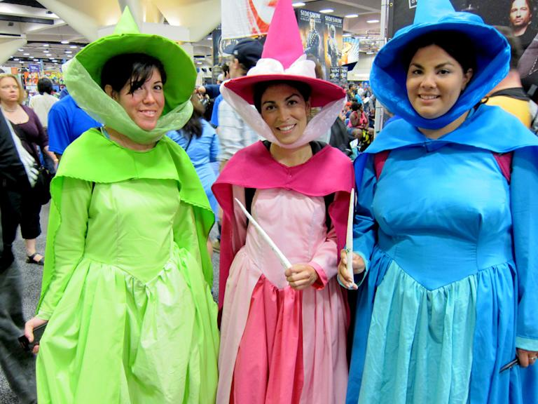 Flora, Fauna and Merryweather cast a friendly spell - San Diego Comic-Con 2012