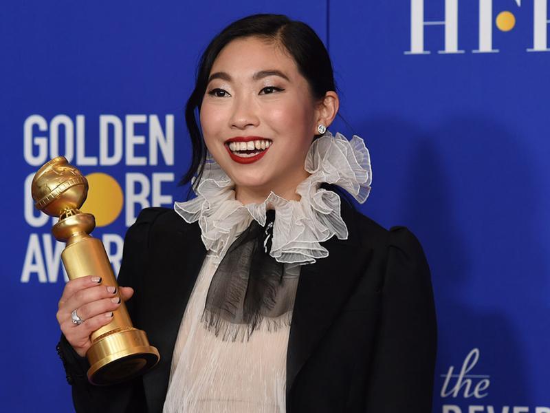奧卡菲娜成為史上第一位華裔金球影后