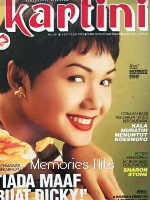 Yuni Shara saat jadi sampul majalah. (Instagram/@memories__hits)