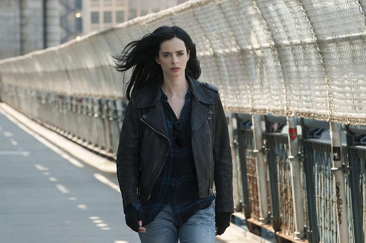 "<p><a class=""body-btn-link"" href=""https://www.netflix.com/watch/80002311"" target=""_blank"">Watch Now</a></p><p>The tough as nails <em>Jessica Jones</em> was arguably the best of the Marvel based shows that aired on Netflix, but because of the Disney+ deal and rights, the show about this butt-kicking crime fighter with super human strength and oodles of attitude was canceled after three seasons.</p>"