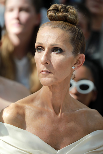 Celine Dion front row at Alexandre Vauthier Haute Couture runway show paris fashion week