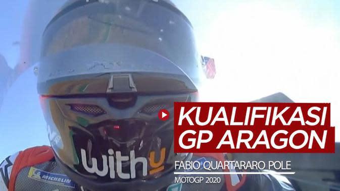VIDEO Hasil Kualifikasi MotoGP Aragon 2020: Fabio Quartararo Pole, Maverick Vinales Kedua