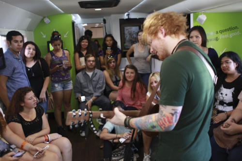 "Song Of The Year Grammy Nominee Ed Sheeran Performs ""The A Team"""