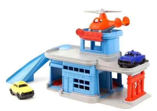 Green Toys Parking Garage. (Image via Indigo)