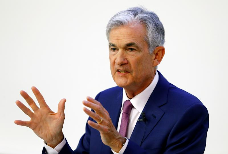 """U.S. Federal Reserve Chairman Jerome Powell speaks during the """"The Economic Outlook and Monetary Policy"""" panel discussion hosted by the Swiss Institute of International Studies at the University of Zurich in Zurich, Switzerland September 6, 2019. REUTERS/Arnd Wiegmann"""