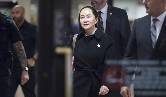 Meng Wanzhou, chief financial officer of Huawei, leaves British Columbia Supreme Court in Vancouver on January 23. Photo: The Canadian Press via AP