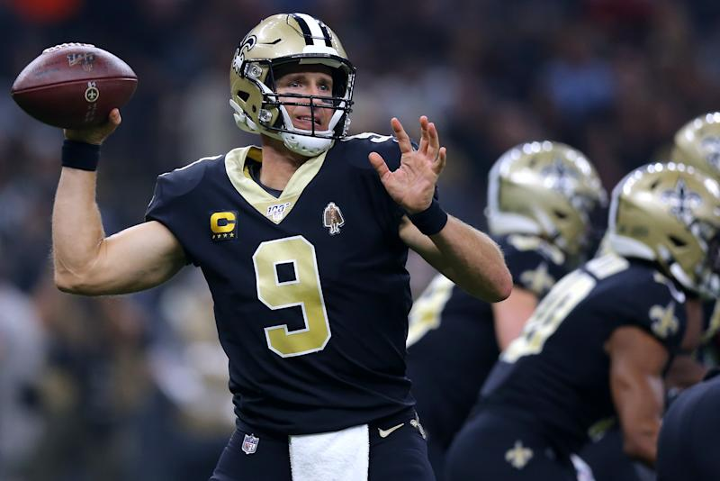 Don't expect the same amazing performance out of Drew Brees that he put up against the Texans. (Photo by Jonathan Bachman/Getty Images)