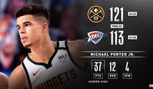 NBA/菜鳥爆砍37分 金塊破雷霆