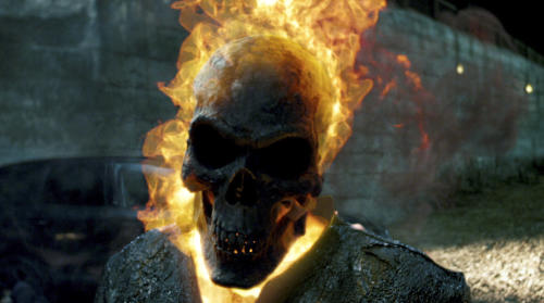 """In this film image released by Columbia Pictures, a scene is shown from """"Ghost Rider: Spirit of Vengeance,"""" in theaters Friday, Feb. 17, 2012. (AP Photo/Columbis Pictures-Sony)"""