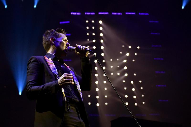 Lead singer Brandon Flowers ()