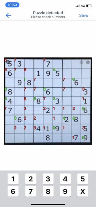 Uploading sudoku puzzle using QR code scanning app