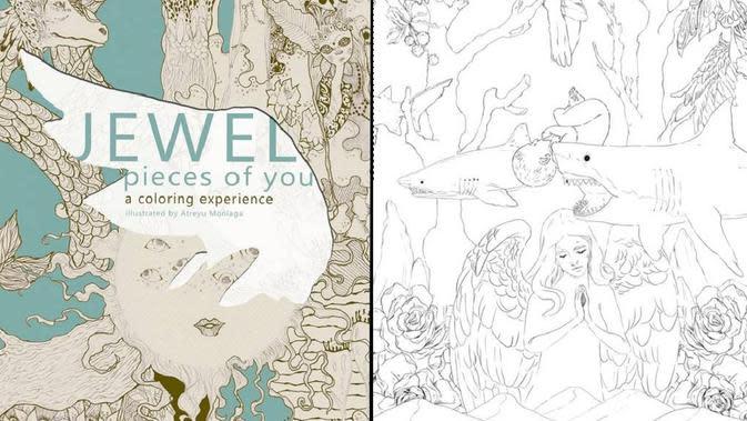 Jewel Pieces of You: a coloring experience illustrated by Atreyu Moniaga (dok. www.jeweljk.com)