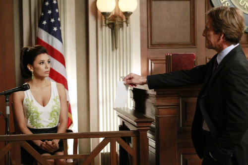 "In this publicity image released by ABC, Eva Longoria, left, and Scott Bakula are shown in a scene from the series finale of ""Desperate Housewives,"" that was aired Sunday, May 13, 2012 at 9:00p.m. EST on ABC. (AP Photo/ABC, Ron Tom)"