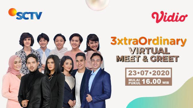 Virtual Meet and Greet #3xtraOrdinary SCTV Bareng Pemain Dari Jendela SMP dan Istri Kedua di Vidio. (Sumber: Vidio)