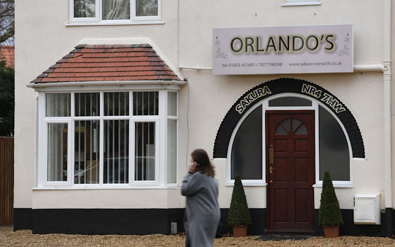 Orlando Williams, who lives at the address, previously ran a Japanese restaurant called Sakura Yakiniku in Norwich city centre and denies running a restaurant from the property. - PA