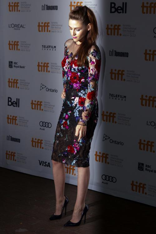 "Kristen Stewart is shown on the red carpet at the gala premiere for the movie ""On the Road"" during the 2012 Toronto International Film Festival in Toronto on Thursday, Sept. 6, 2012. (AP Photo/The Canadian Press, Chris Young)"