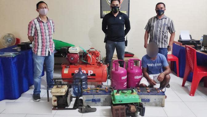 Maling Alat Kapal Bernilai Ratusan Juta di Manado Ditangkap Saat Pesta Miras