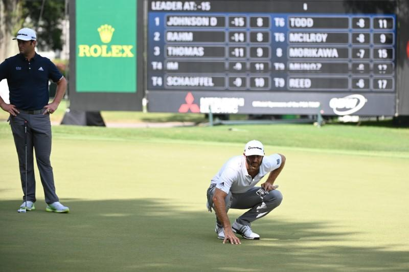 Johnson leads by one stroke at halfway point in Atlanta