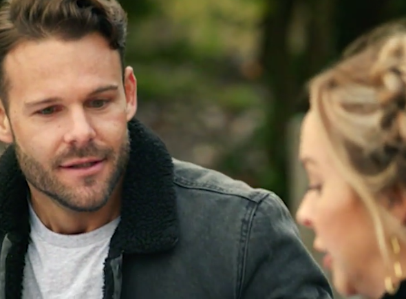 'I'm married': Carlin drops a bombshell on bachelorette Angie in episode two. Photo: Channel 10.