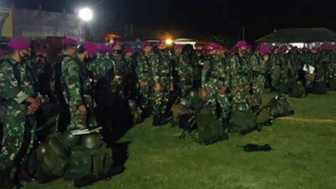 Amankan Jakarta, TNI Terbangkan 2 Batalyon Marinir dari Lampung