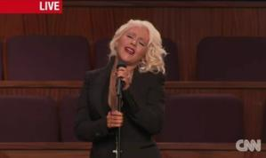 Etta James Honored With Christina Aguilera Tribute At Funeral