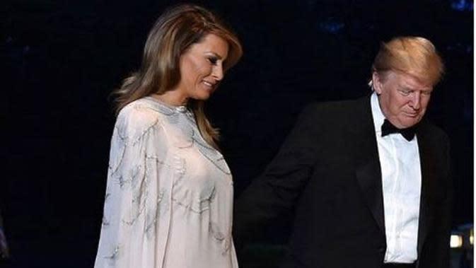 Melania Trump memakai kaftan saat ke Jepang. (dok.Instagram @melaniatrumpworld/https://www.instagram.com/p/Bx-vaoIlc3l/?utm_source=ig_embed/Henry
