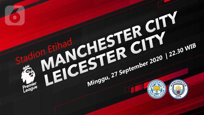Manchester City vs Leicester City (Liputan6.com/Abdillah)