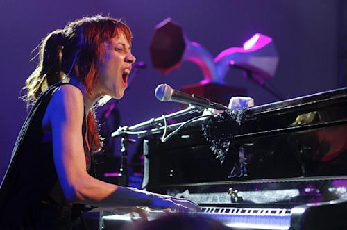 Fiona Apple performs at the NPR showcase during the SXSW Music Festival in Austin, Texas on Wednesday, March 14, 2012. (AP Photo/Jack Plunkett)