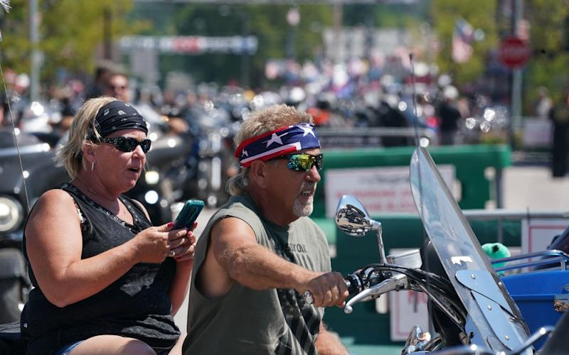 Motorcyclists attend the 80th Annual Sturgis Motorcycle Rally - Bryan R Smith/AFP