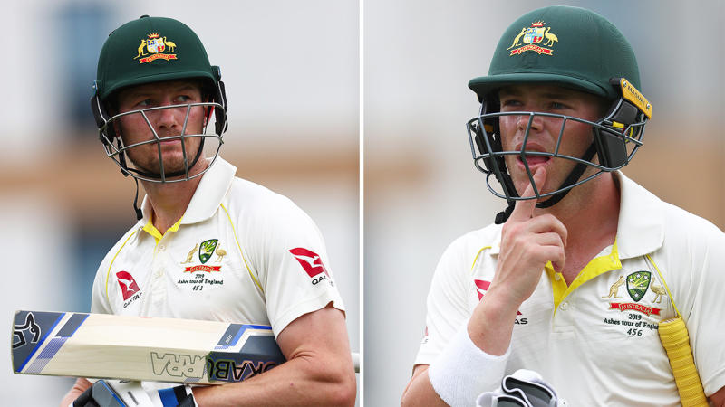 Cameron Bancroft, pictured left, has reportedly been dropped in favour of Marcus Harris, right.