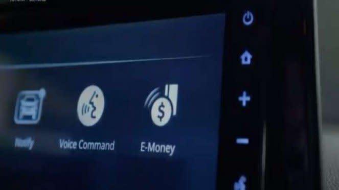 Head unit Corolla Cross yang bisa untuk mengecek uang elektronik