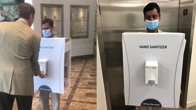Perusahaan Ini Tugaskan Pekerja Migran Jadi 'Hand Sanitizer', Tuai Kecaman