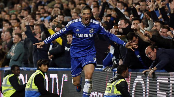 Fernando Torres kala berkostum Chelsea. (EPA/Kerim Okten)