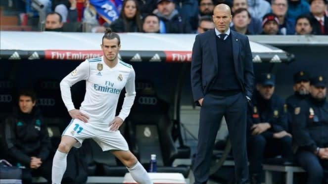 Gareth Bale dan Zinedine Zidane.
