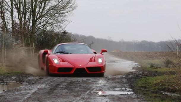 Ferrari Enzo gets its rally on, sullying the rich