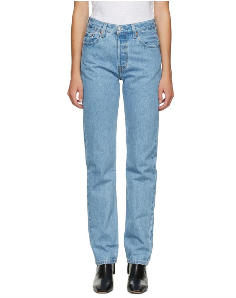 Levi's Blue 501 Original Fit Jeans. Image via SSENSE.