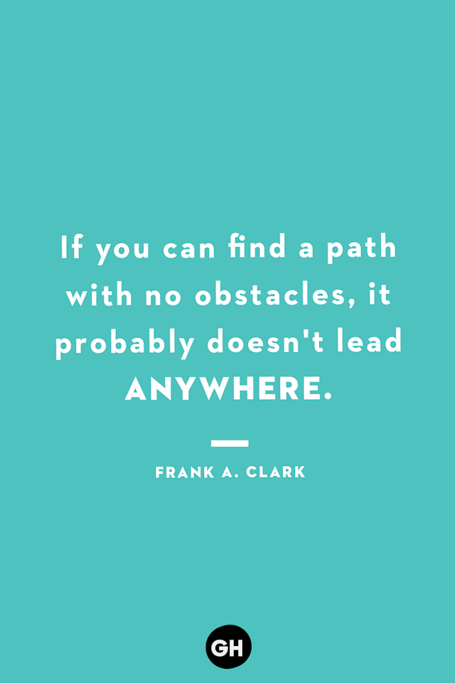 <p>If you can find a path with no obstacles, it probably doesn't lead anywhere.</p>
