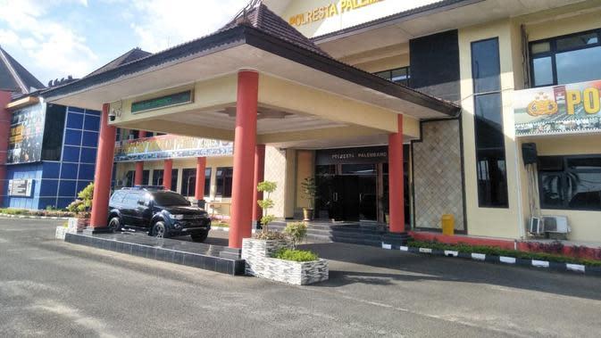 Polrestabes Palembang Sumsel (Liputan6.com / Nefri Inge)