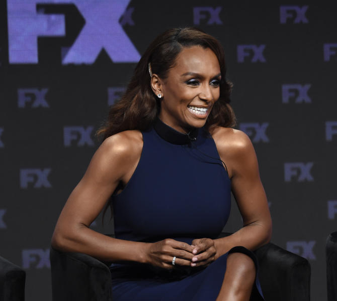 "FILE - In a Tuesday, Aug. 6, 2019 file photo, Janet Mock, left, co-executive producer/writer/director on the FX series ""Pose,"" takes part in a panel discussion during the 2019 Television Critics Association Summer Press Tour, in Beverly Hills, Calif. Taylor Swift and writer-director-producer Janet Mock will be honored at the GLAAD Media Awards for their advocacy for LGBTQ issues. Swift has been an outspoken proponent of the Equality Act and her video for her hit ""You Need To Calm Down""  featured prominent LGBTQ celebrities. The pop star will get the Vanguard Award during the ceremony in Los Angeles in April. Mock writes and directs on the FX series ""Pose."" She will receive the Stephen F. Kolzak Award, presented to a LGBTQ media professional.(Photo by Chris Pizzello/Invision/AP, File)"