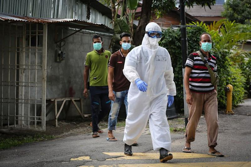 Health Director-General Datuk Dr Noor Hisham Abdullah said from May 4 till today, 78 per cent of positive cases came from foreign workers who struggle to avoid infection due to their living conditions. — Picture by Yusof Mat Isa