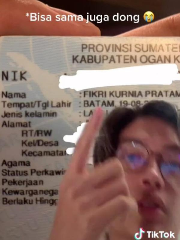 Fikri Seleb TikTok yang Mirip Adipati Dolken (Sumber: Instagram//fikrikurniapratama/)