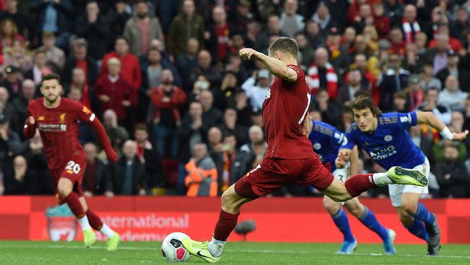 Pemain Liverpool, James Milner. (AFP/Paul Ellis)