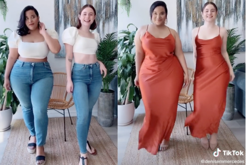 Denise Mercedes and Maria Castellanos have teamed up to create #StyleNotSize, an online movement empowering women everywhere. (Image via TikTok/DeniseMercedes)