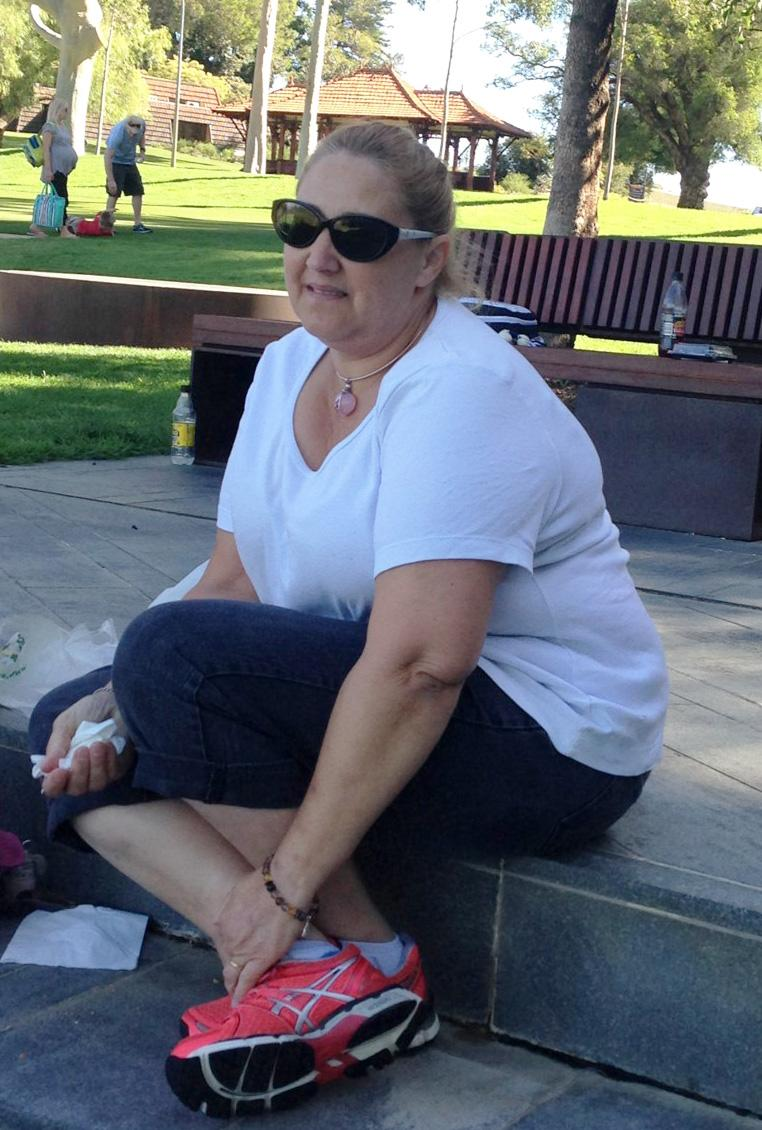 Joanie didn't leave the house for over a year, and said her physical health deteriorated like her mental health. Photo: Supplied
