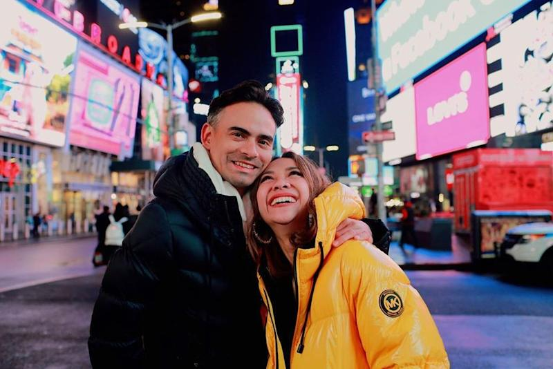 Ashraf and Bunga had just returned from a trip to the Big Apple earlier this month. — Picture from Instagram/bclsinclair