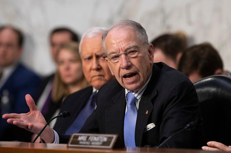 Sen. Chuck Grassley, R-Iowa, fears COVID-19 contracts will hurt taxpayers if fraud is not eliminated from the system.