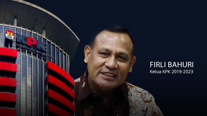 Banner Ketua KPK Firli Bahuri (Liputan6.com/Triyasni)
