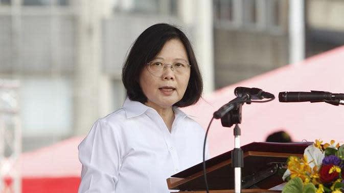Tsai Ing-wen, presiden wanita pertama Taiwan yang disumpah pada Mei 2016 (AP Photo/Chiang Ying-ying)