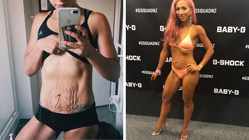 Why this mum of twins shows off 'saggy' tummy in fitness competitions