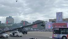 雙十國慶大典 警政署裝甲車首結合黑鷹直升機演示反恐反劫持